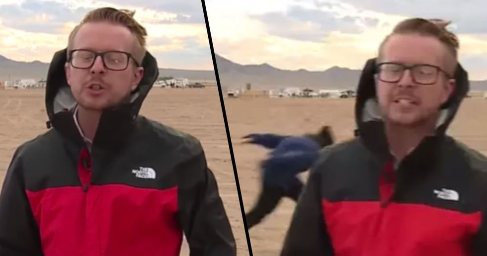 Man Does Epic Naruto Run as People Arrive at Storm Area 51