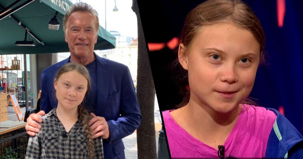 Arnold Schwarzenegger Offers Greta Thunberg His Electric Car