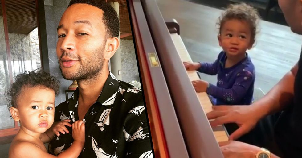Chrissy Teigen Shares Video of One-Year-Old Son Playing Piano With John Legend