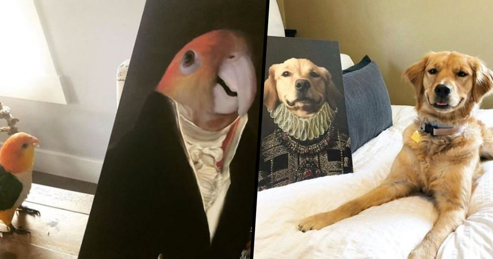 This Company Turns Pets Into Royal Portraits and They're Amazing