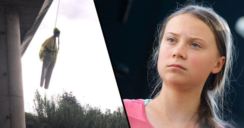 An Effigy of Greta Thunberg Was Hung From a Bridge in Rome