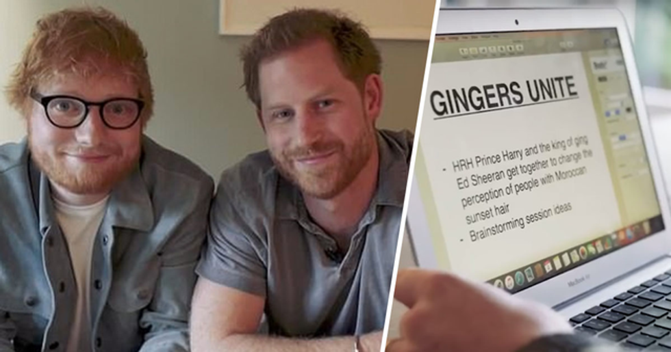 Prince Harry and Ed Sheeran Release Hilarious Video Making Fun of Their Hair