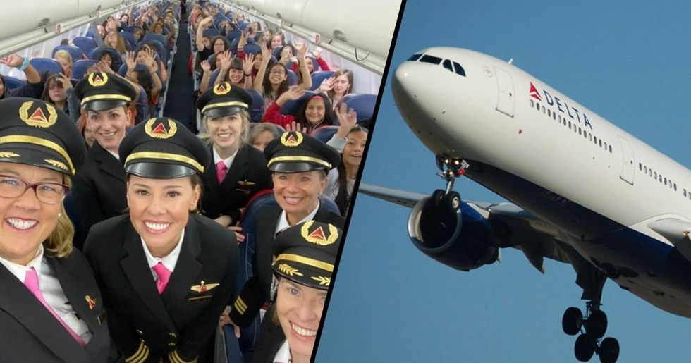 All-Woman Delta Team Flew 120 Girls to NASA to Get Them Excited About Aviation Careers