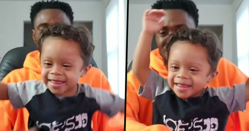 Son and Dad Dance Together to Celebrate Being 11 Months Cancer Free