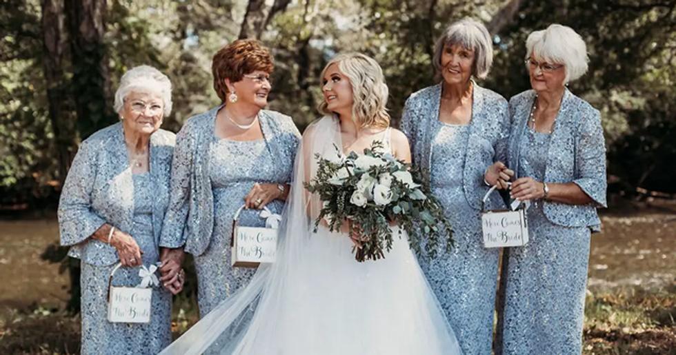 Bride Asks 4 Grandmas to Be Flower Girls at Her Wedding