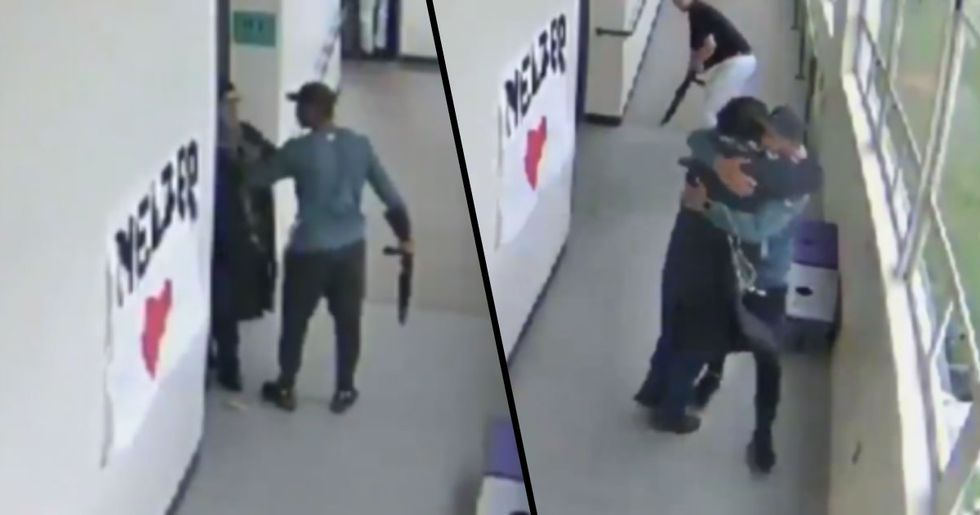 Football Coach Disarms Potential School Shooter by Hugging Him