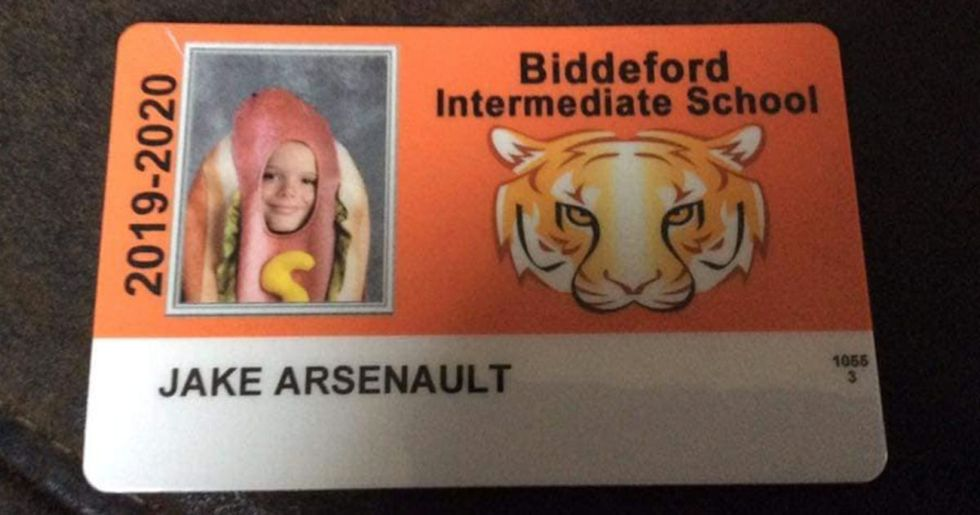 Kid Wears Hotdog Costume for School Picture Because His Parents Dared Him To