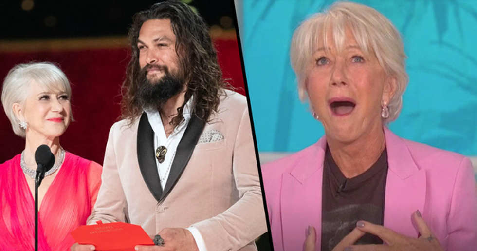Helen Mirren Says She 'Secretly' Took a Photo of Jason Momoa on Plane Because 'He Was so Gorgeous'