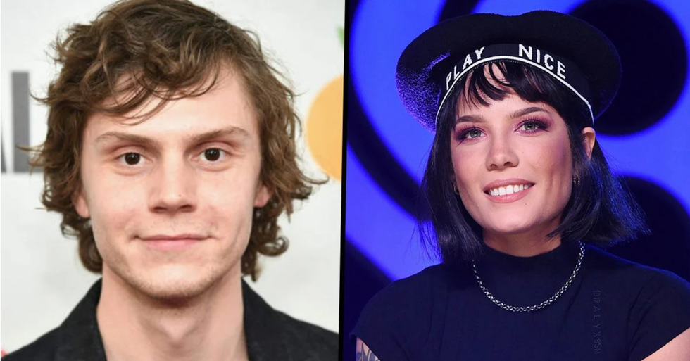 Evan Peters and Halsey Confirm Their Romance with Two Amazing Halloween Costumes