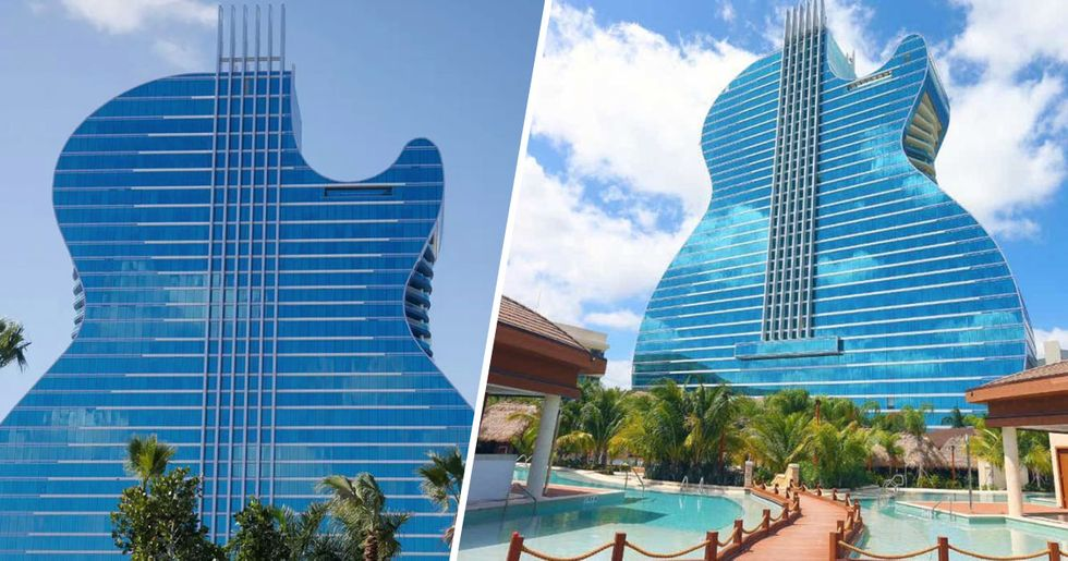 Hard Rock Hotel Shaped like a Guitar Opens in Florida