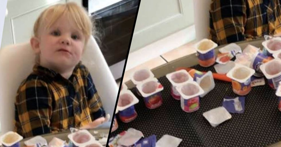 This Dad Left His Kid Alone for 10 Minutes and She Devoured 18 Containers of Yogurt