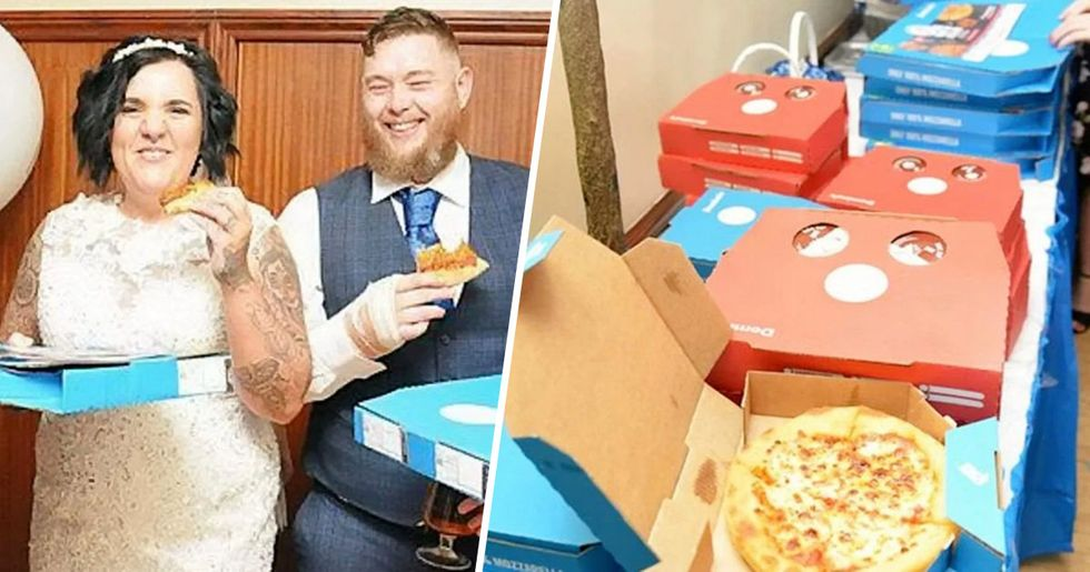 Newlyweds Celebrate Wedding With a $450 Domino's Pizza Buffet