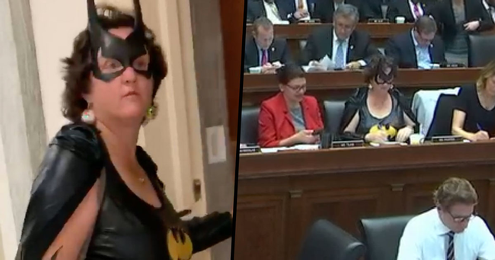 Congresswoman Shows up to Vote Dressed as Batgirl