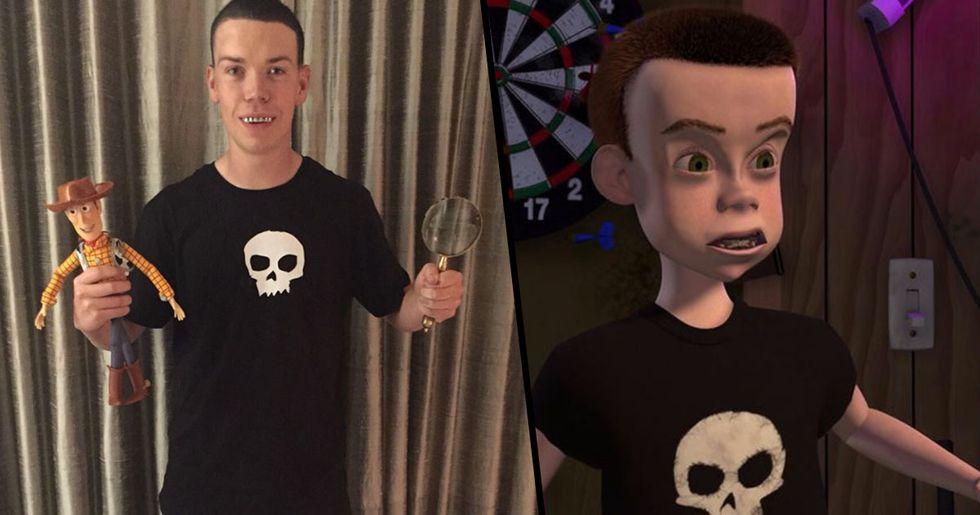 Will Poulter Dressed As Sid From 'Toy Story' Will Always Be The Best Halloween Costume