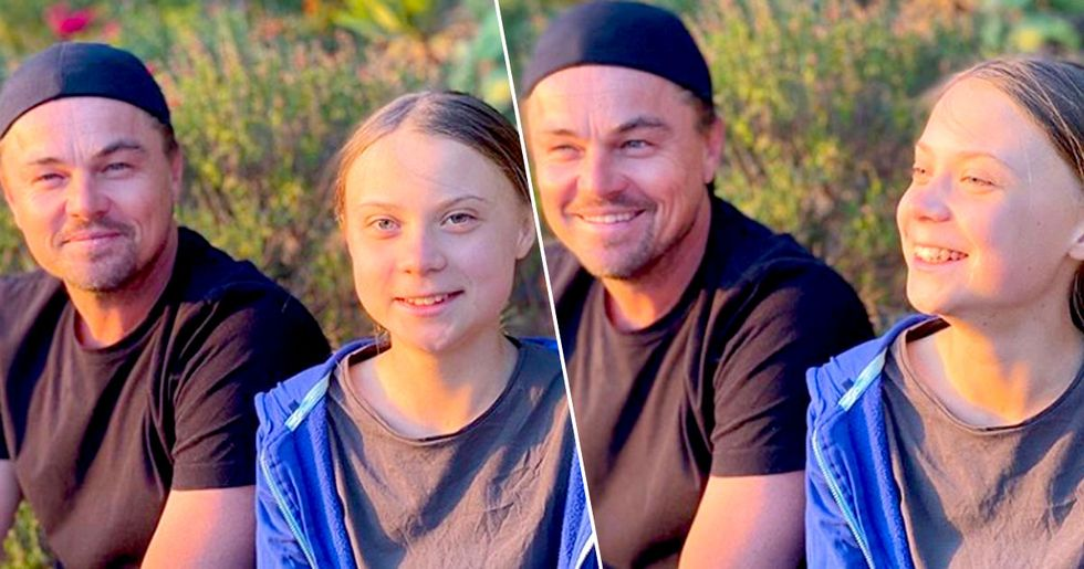 Leonardo DiCaprio Meets Greta Thunberg and Calls Her Leader of Our Time