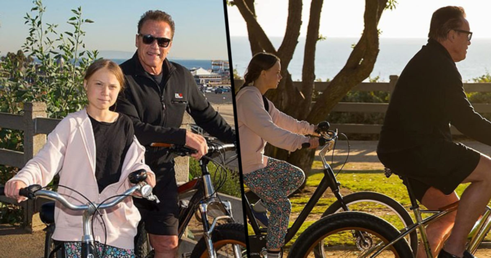 Arnold Schwarzenegger Goes Cycling with 'Friend and Hero' Greta Thunberg
