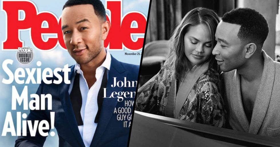 Chrissy Teigen Had the Best Response to John Legend's New Title as 'the Sexiest Man Alive'