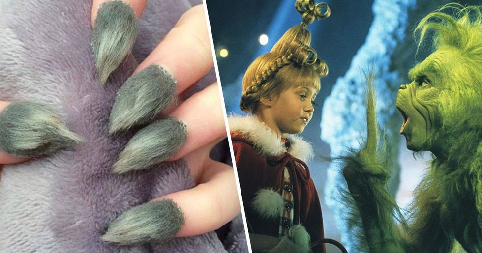 These Grinch-Inspired Nails Are Freaking People Out