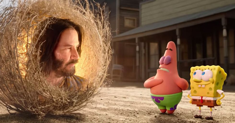 Spongebob Meets Keanu Reeves in the New 'Spongebob' Trailer