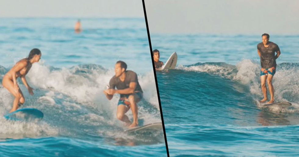 Man Proposes to His Girlfriend While Surfing and Drops the Ring into the Ocean