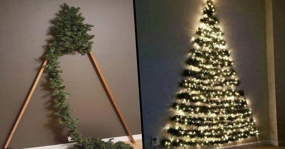 Moms Go Crazy for Space Saving Christmas Tree That Kids Can't Knock Over
