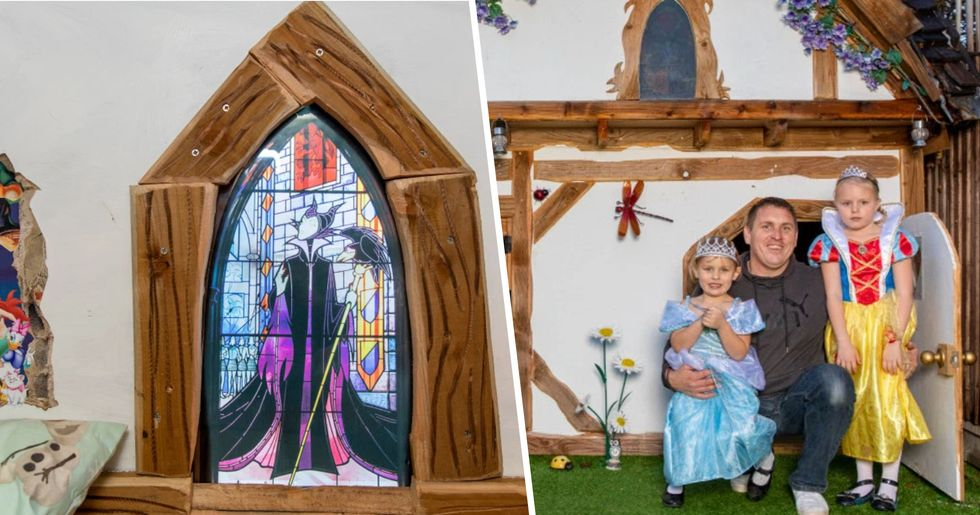 Dad Builds Daughters Two-Storey Disney Playhouse Because Ones in Shops 'Weren't Good Enough'