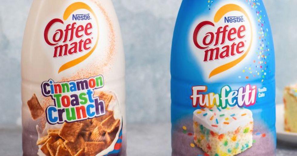 Coffee-Mate Is Launching Cinnamon Toast Crunch and Funfetti Cake Creamers