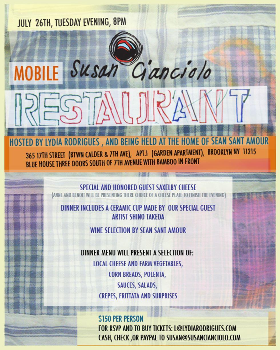 Susan Cianciolo's Mobile Restaurant Sounds Delicious
