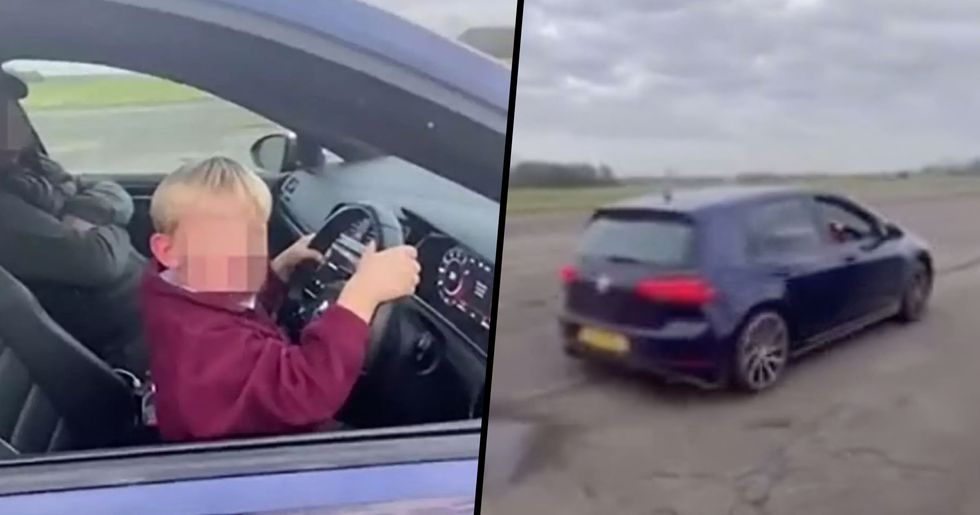 6-Year-Old Boy Filmed Driving 155mph in Car With No Seatbelt