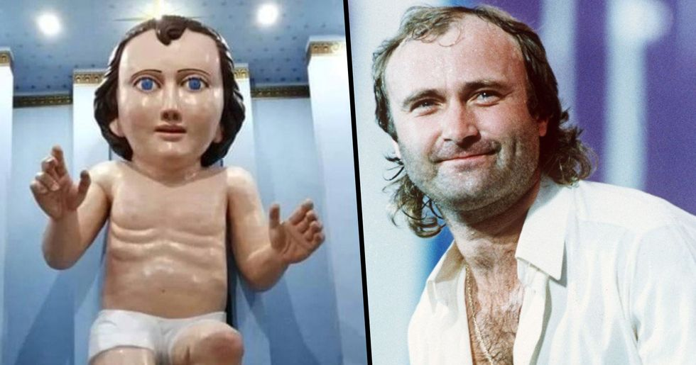 Church Builds Giant Baby Jesus Statue That Looks Like Phil Collins