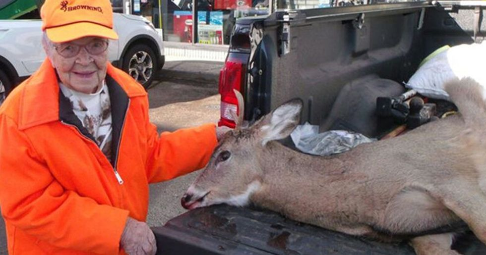 104-Year-Old Woman Shoots Deer on First Ever Day of Hunting