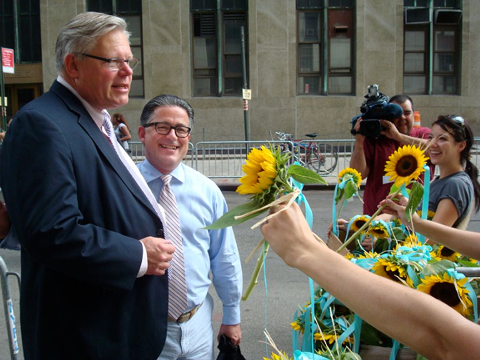 Flowers For the Brides and Grooms: Celebrating Gay Marriage's Legalization in New York