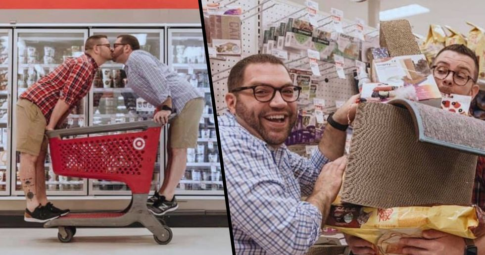 Gay Couple Have Their Engagement Shoot at Target