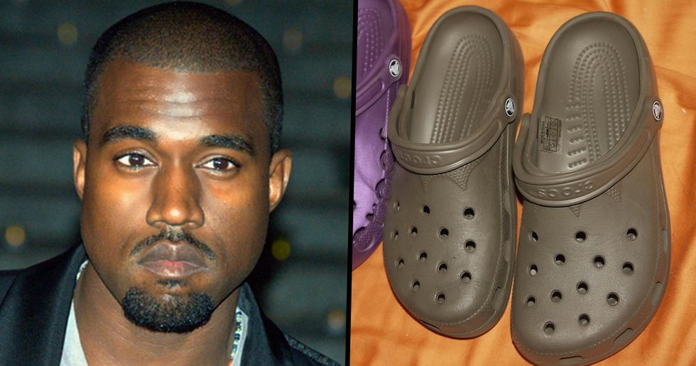 Kanye West Ruthlessly Mocked for Wearing 'Yeezy Crocs'