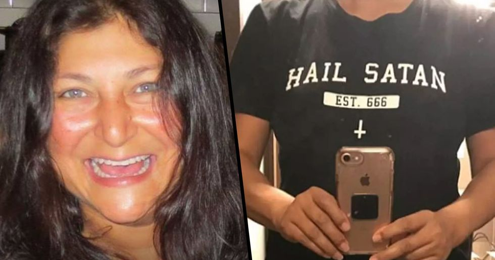 Airline Forces Woman Wearing 'Hail Satan' T-Shirt to Either Change or Get off the Plane