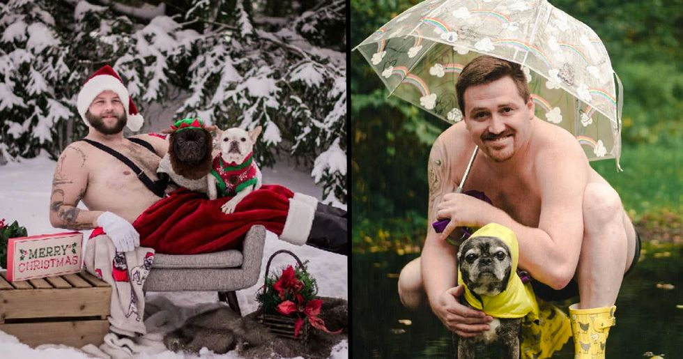 'Dad Bods and Rescue Dogs' Calendar Raises Money for Lucky Bulldogs Rescue