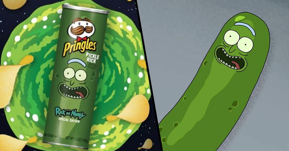 Rick and Morty Team up with Pringles for Pickle Rick Flavor