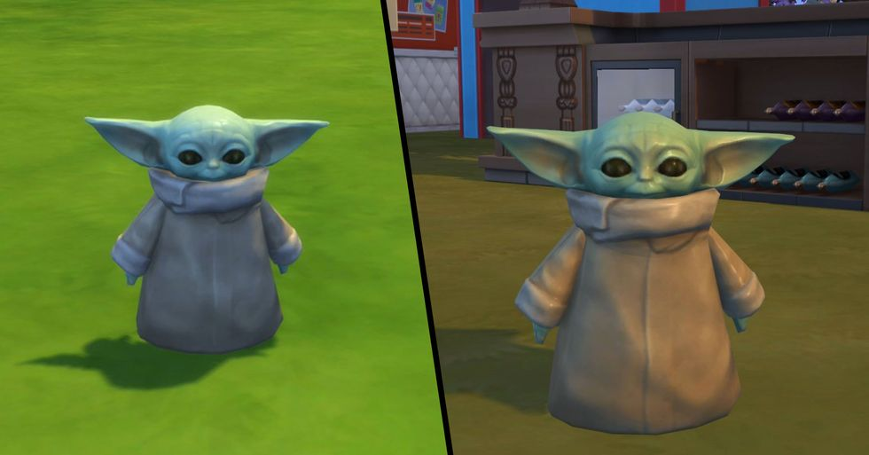 Baby Yoda Has Been Added to 'The Sims 4'