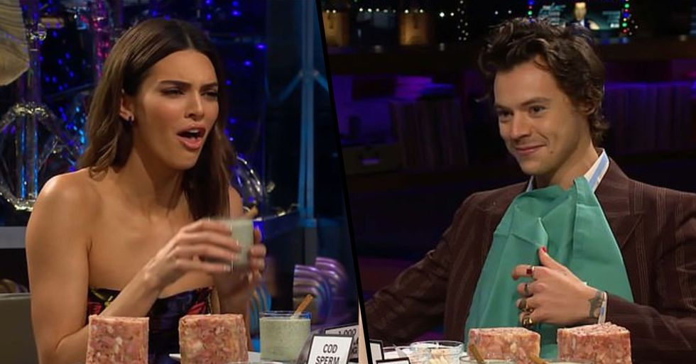 Kendall Jenner and Harry Styles Eat Private Parts on Live TV