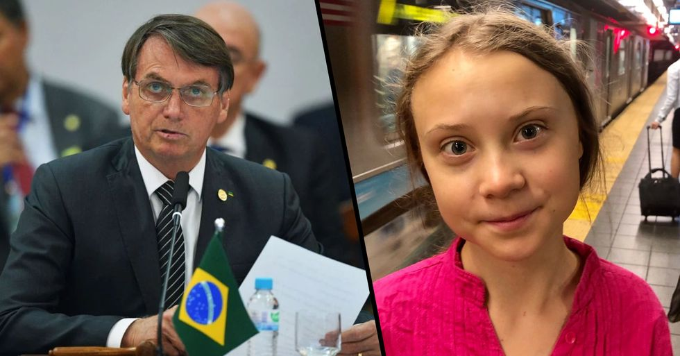 Brazil's President Calls Greta Thunberg a 'Brat'