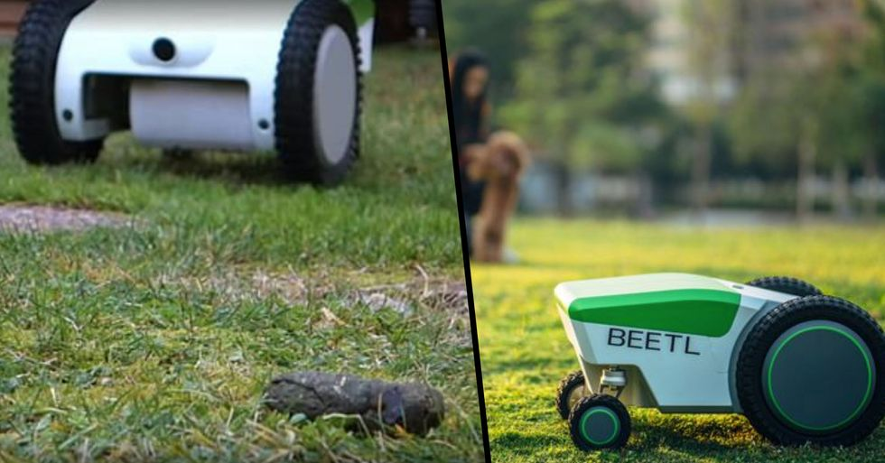 Pooper Scooper Robot Will Automatically Find And Pick Up Your Dog's Poop