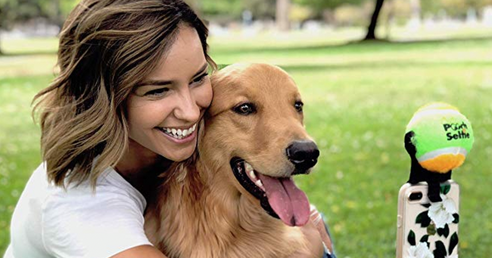 Genius Invention Allows Pet Owners to Take Proper Selfies with Their Dogs