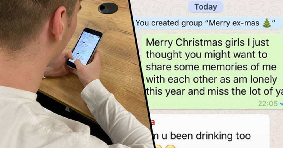 Man Adds All Ex-Girlfriends to Whatsapp Group to Wish Them a Merry 'Ex-Mas' and It's Wild