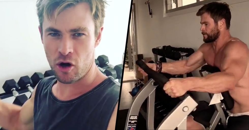 Chris Hemsworth Is Auctioning off a One-Hour Workout With Him to Raise Money for Firefighters