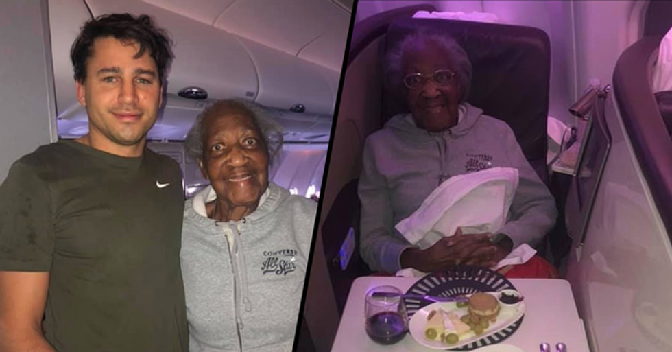 Young Plane Passenger Selflessly Gives His First-Class Seat to an 88-Year-Old Woman
