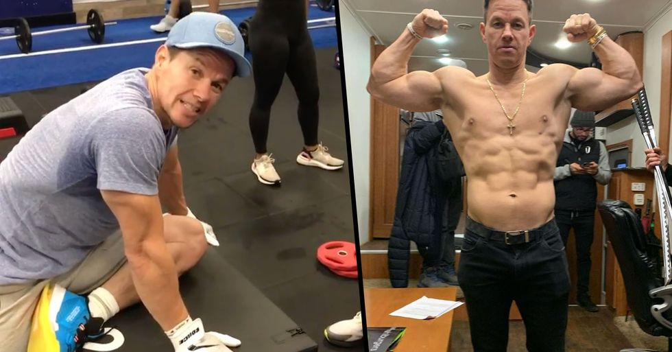Mark Wahlberg Shows off the Results of His Training Routine