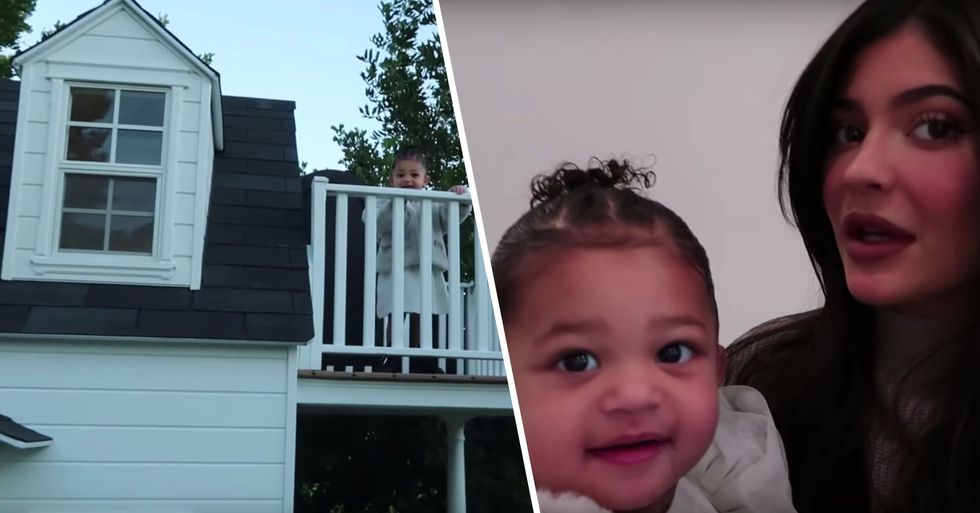 Kylie Jenner's Daughter Stormi Given Huge Life-Sized Playhouse for Christmas