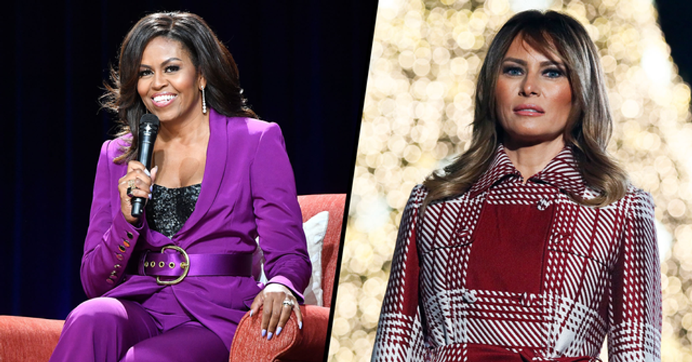 Michelle Obama Beats Melania Trump as 'Most Admired Woman' for the Second Year in a Row