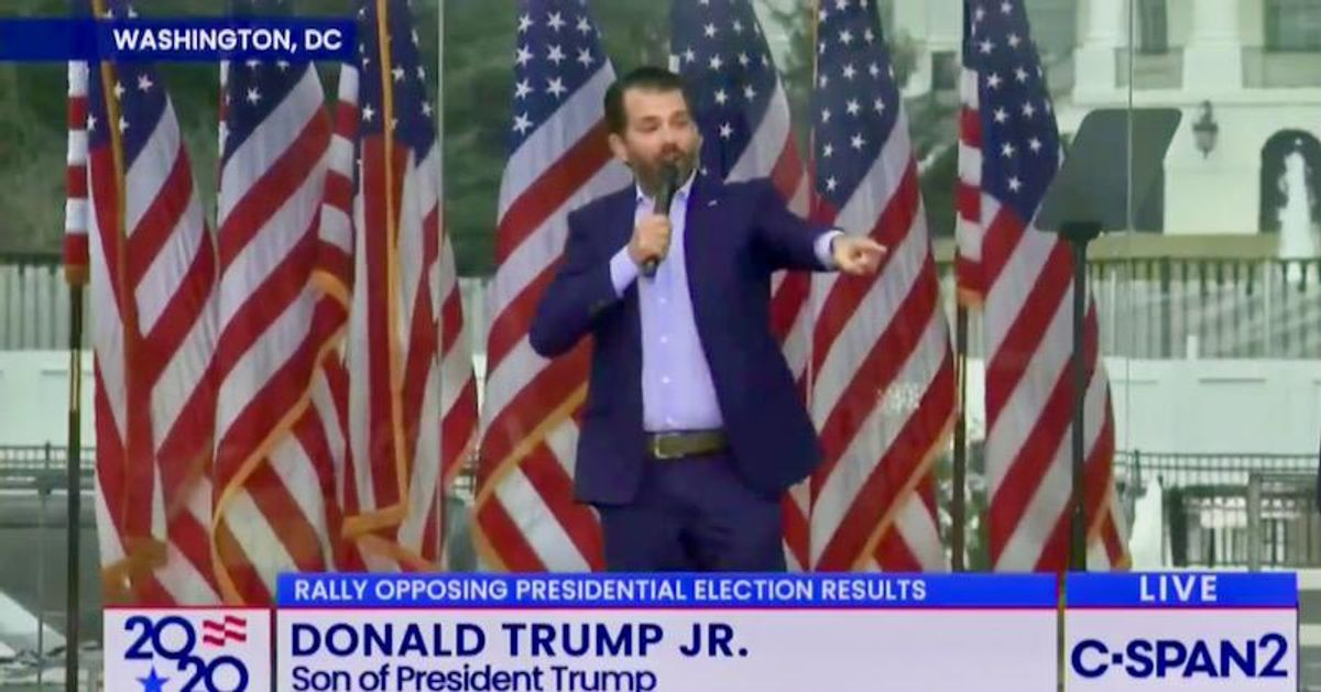 Fox News cuts away from 'Save America' rally after Don Jr.'s expletive-laden, anti-trans rant