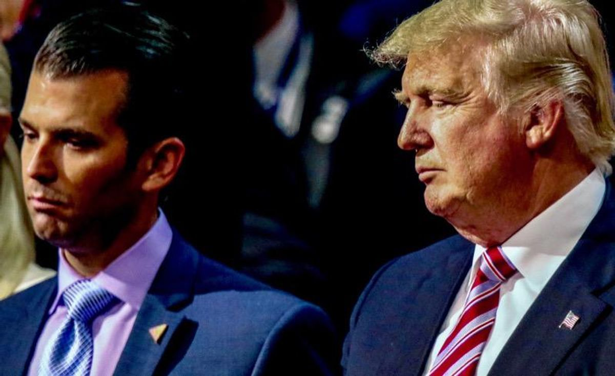 Donald Trump Jr. blasted for telling violent MAGAites 'don't start acting like the other side'